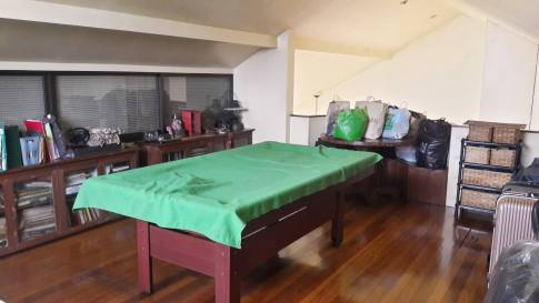 attic with pool table Greenwoods Village Pasig House for Sale