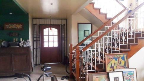 stairs foyer Greenwoods Village Pasig House for Sale