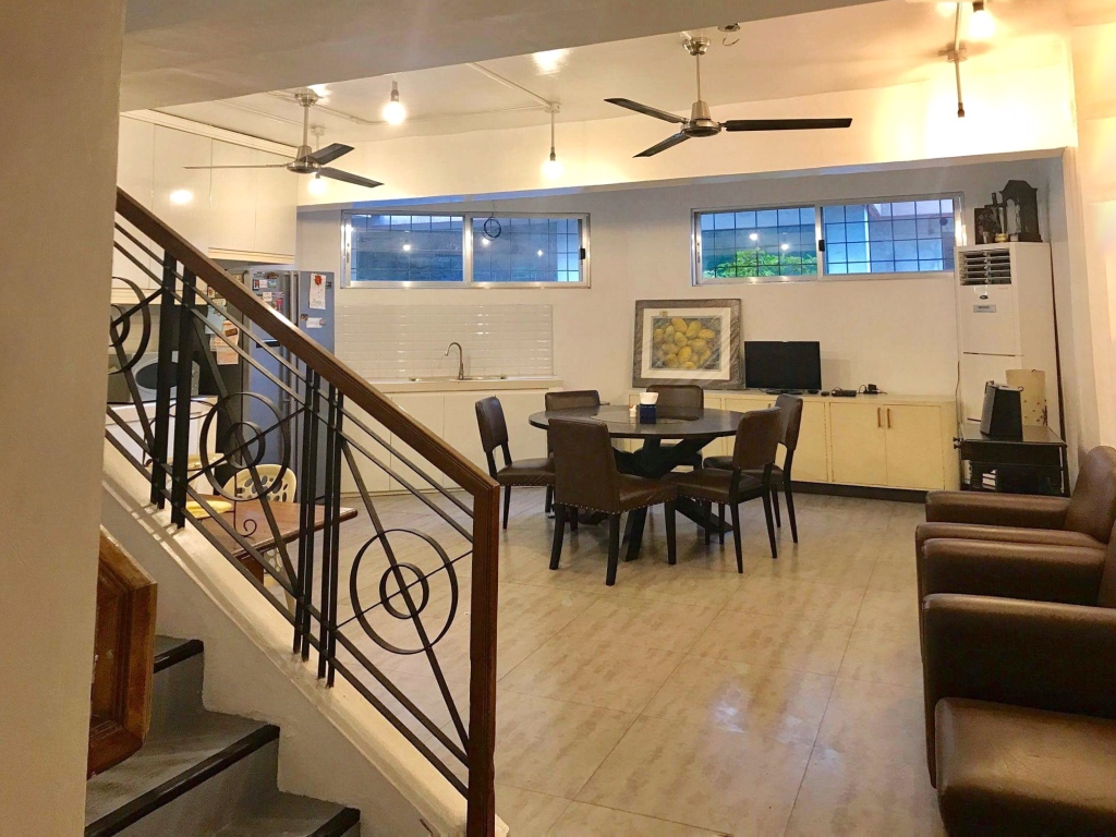 Living Room and dining Townhouse for sale san antonio village makati by carla calleja
