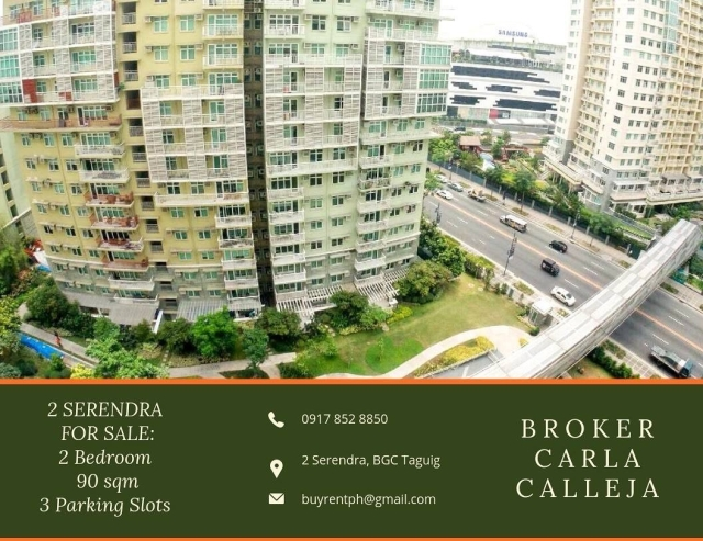 2 Bedroom Loft 2 Serendra BGC for Sale