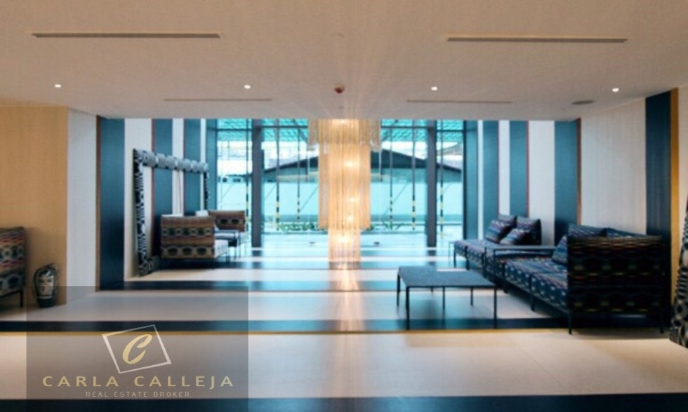 Livingstone  Tower Lobby Acqua Residences Mandaluyong Century Makati across Rockwell for Sale 1 Bedroom Carla Calleja Broker