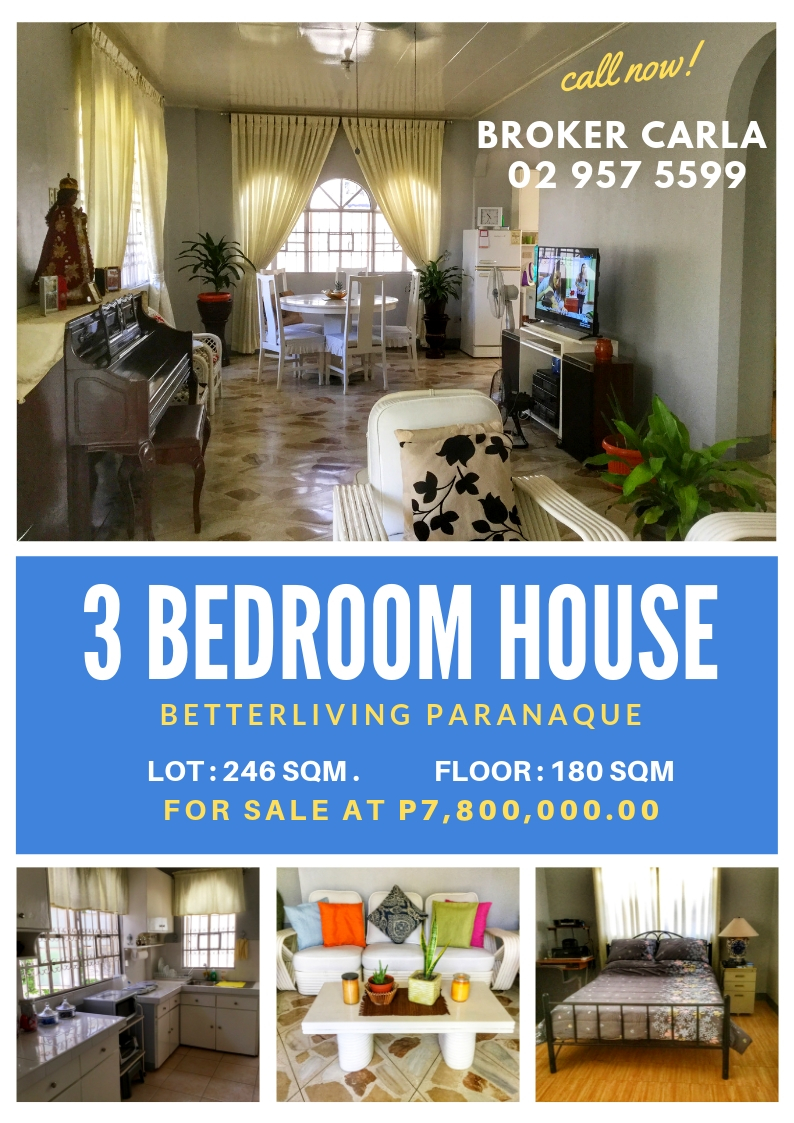 House and Lot for Sale Betterliving Paranaque cozy simple home goals family 3 bedroom living room sala