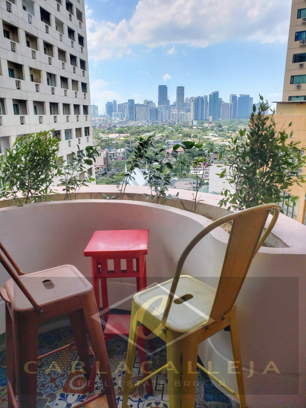 Sunette Tower for Sale Balcony View of Bel-Air and BGC Skyline